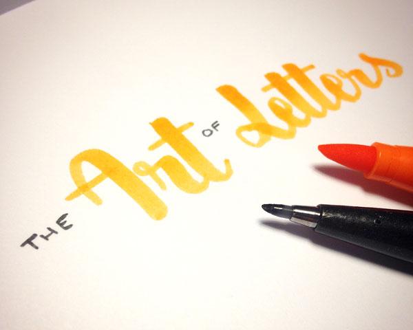 Calligraphie et lettering, l'art des belles lettres