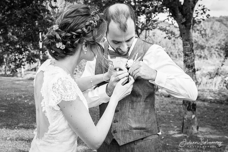 mariage ajustement de tenue