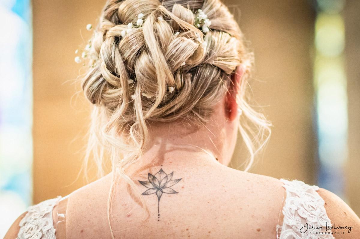 photographe mariage detail tatouage dos
